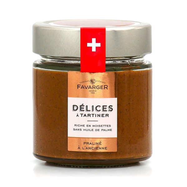 Favarger Pâte à tartiner Praliné Suisse à l'ancienne - Amandes et noisettes - Pot 220g