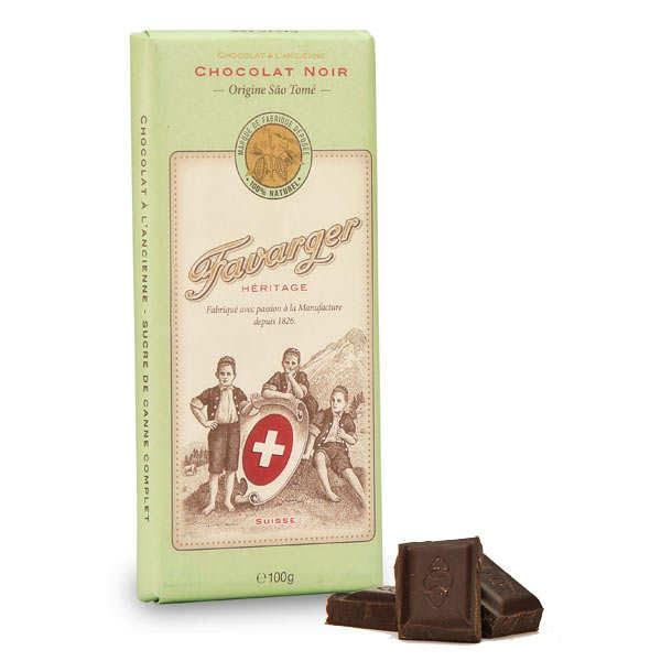 Favarger Tablette de chocolat suisse noir - 6 tablettes de 100g