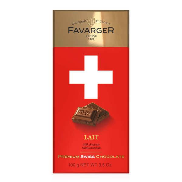 Favarger Tablette de chocolat suisse au lait - 3 tablettes de 100g