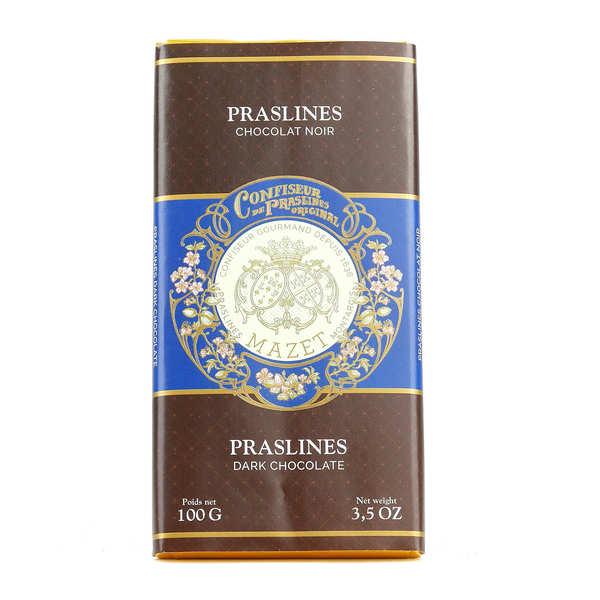 Mazet de Montargis Tablette de chocolat noir aux praslines Mazet - Tablette 100g