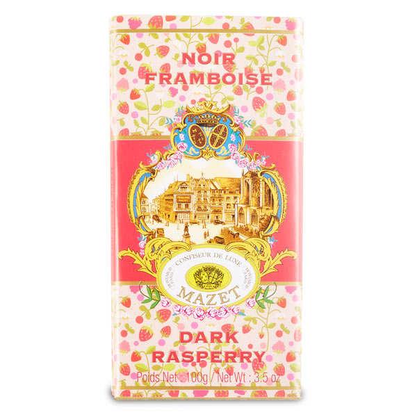 Mazet de Montargis Tablette de chocolat noir framboise - Tablette 100g