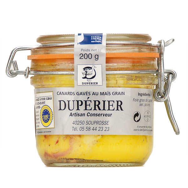 Duperier et fils Foie gras de canard entier du Sud-Ouest Landes (IGP) - Bocal 200g - 3/4 parts