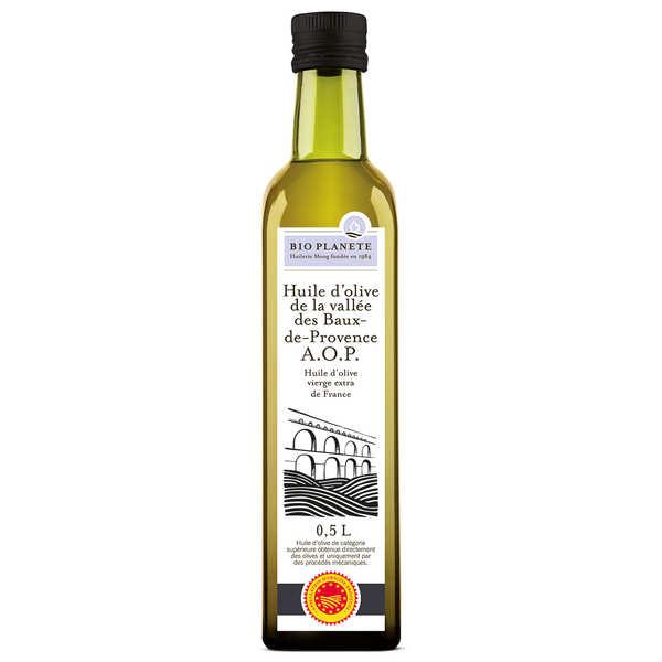 BioPlanète Huile d'olive vierge AOP Vallée des Baux-de-Provence bio - 3 bouteilles de 50cl
