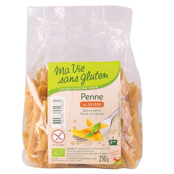 Ma vie sans gluten Penne au Quinoa - pâtes bio sans gluten - 8 sachets de 250g