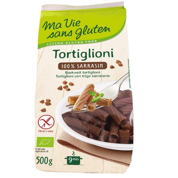 Ma vie sans gluten Tortiglioni 100% sarrasin - pâtes bio sans gluten - Sachet 500g