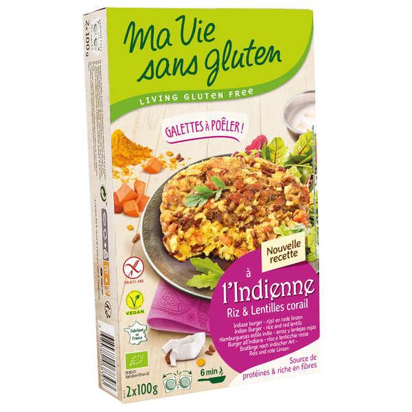 Ma vie sans gluten Galettes prêtes à poêler riz Camargue et lentilles corail sans gluten - Etui 2x100g