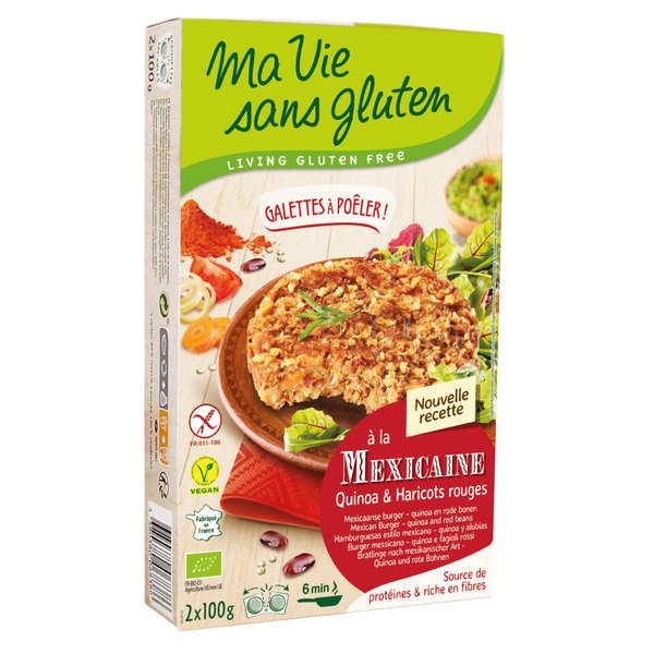 Ma vie sans gluten Galettes prêtes à poêler quinoa et haricot rouge bio sans gluten - Etui 2x100g