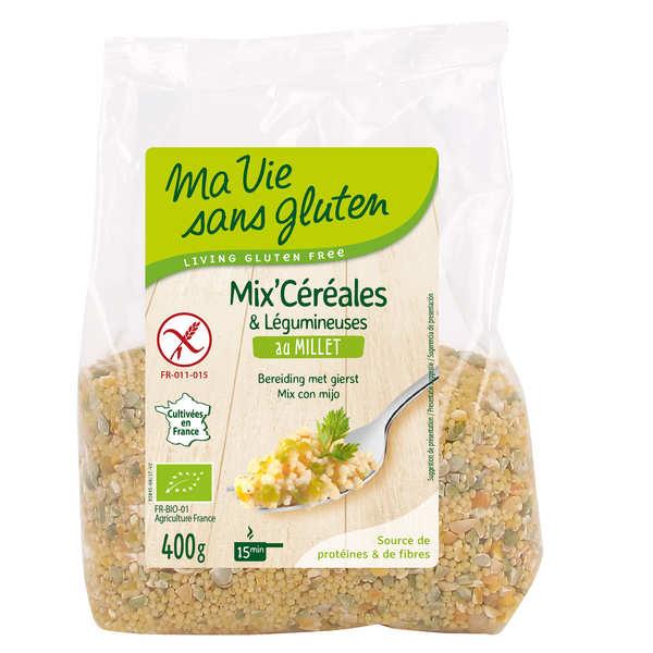 Ma vie sans gluten Mix céréales & légumineuses au millet bio sans gluten - Sachet 400g