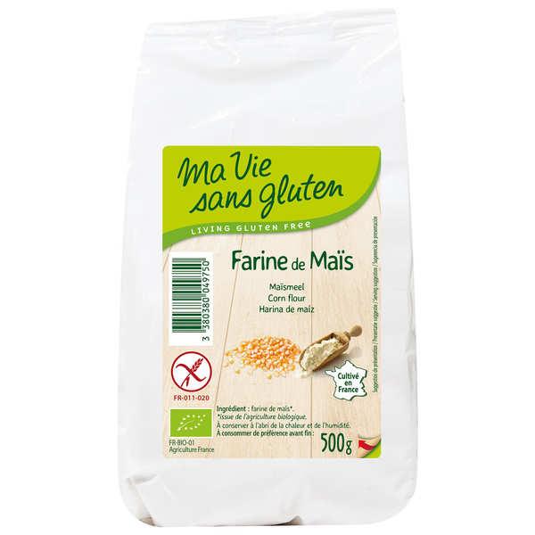Ma vie sans gluten Farine de maïs bio certifiée sans gluten - Sachet 500g
