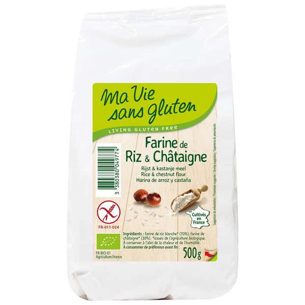 Ma vie sans gluten Farine de riz & châtaigne bio - sans gluten - Sachet 500g