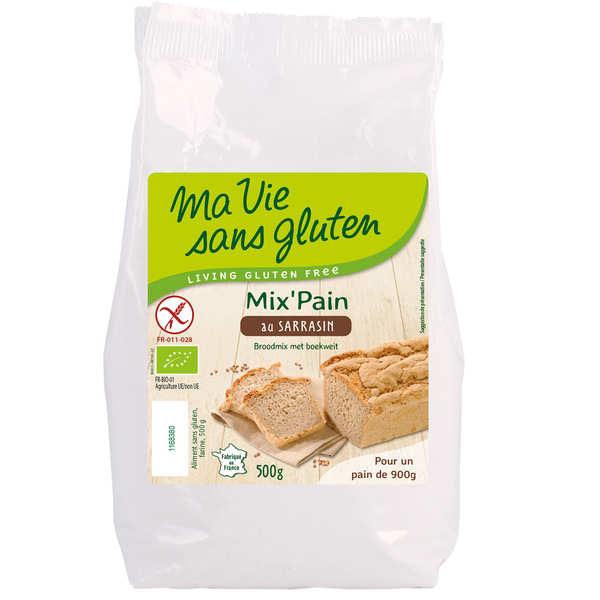 Ma vie sans gluten Préparation pour pain bio au sarrasin - sans gluten - 3 sachets de 500g