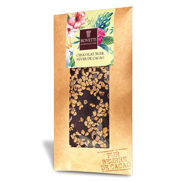Bovetti chocolats Tablette chocolat noir fèves de cacao - Tablette 100 g