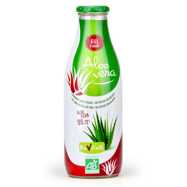Biovitam Pur jus d'Aloe Vera Bio en gel - Lot 3 bouteilles de 1L