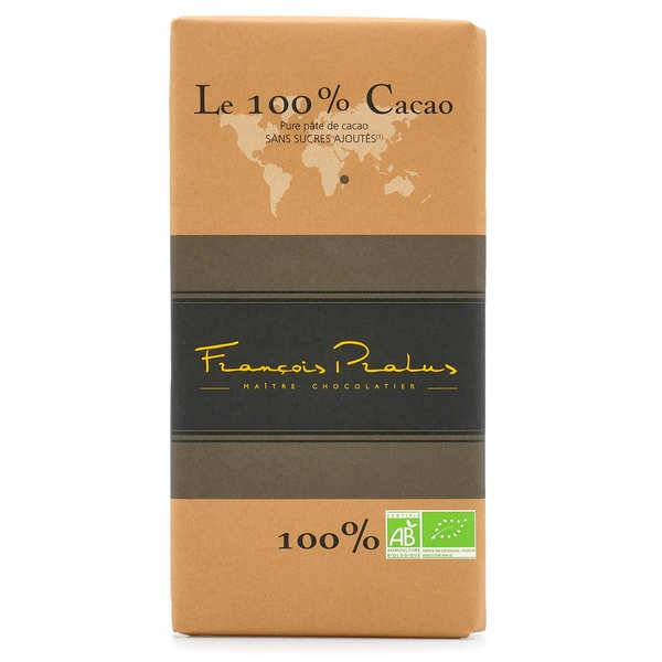 Chocolats François Pralus Tablette de chocolat noir criollo 100% Madagascar - Lot de 2 tablettes de 100g