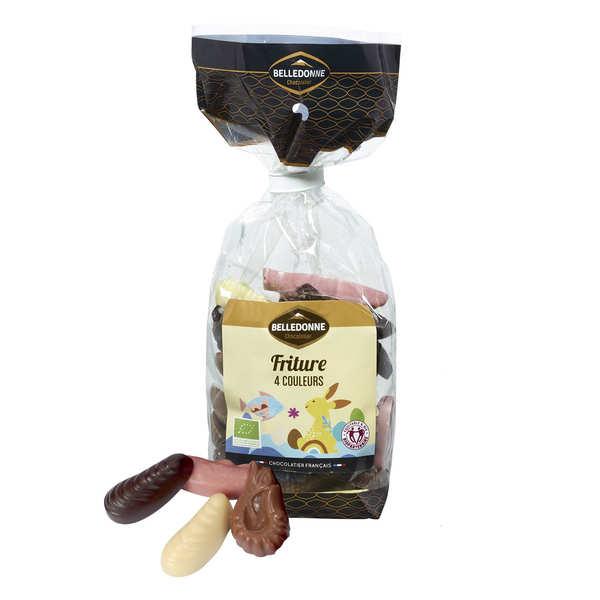 Belledonne Chocolatier Friture de Pâques 4 couleurs bio - 3 sachets de 120g
