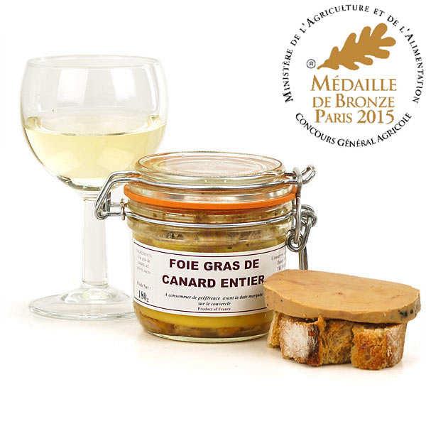 Danos Frères Foie gras de canard entier de Dordogne - Bocal 120g