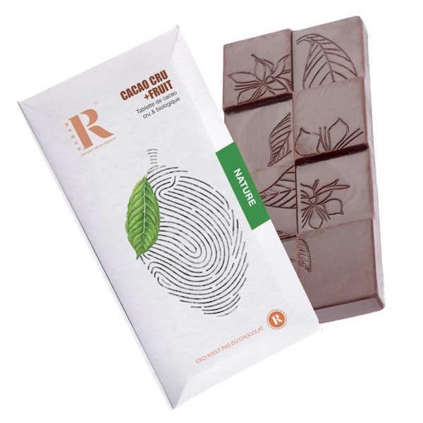 Rrraw Tablette de chocolat cru bio et vegan - Sans sucre ajouté - Tablette 45g
