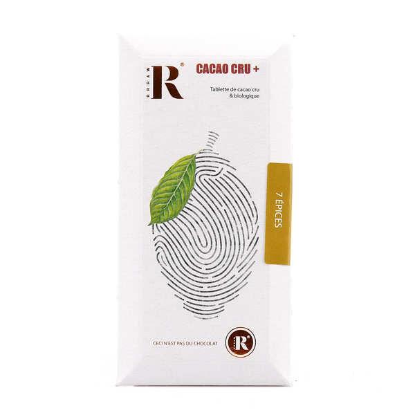 Rrraw Tablette de chocolat cru et bio aux 7 épices - Tablette 45g