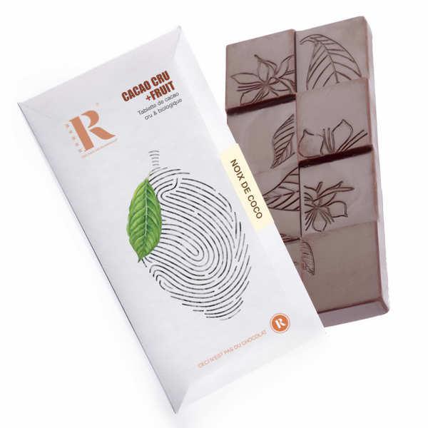 Rrraw Tablette de chocolat cru (68%) et noix de coco bio - Tablette 45g