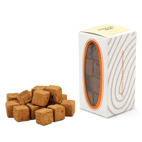 Rrraw Cubes de chocolat (cacao) cru cajou-coco végan et bio (49% cacao) - Boite 55g