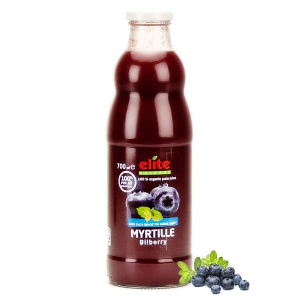 Elitegroup Pur jus de myrtille bio - Lot de 3 bouteilles de 70cl