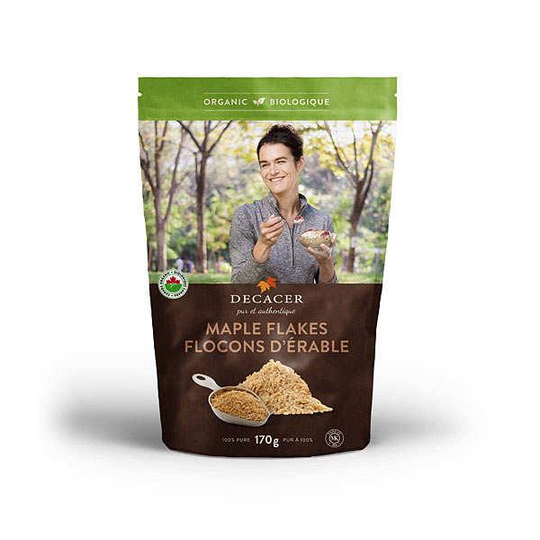 Decacer Flocons d'érable bio (sucre d'érable en flakes) - Sachet 170g