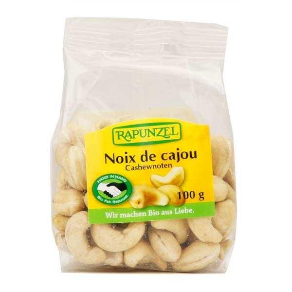 Rapunzel Noix de cajou entières non salées bio - Lot 3 sachets de 100g