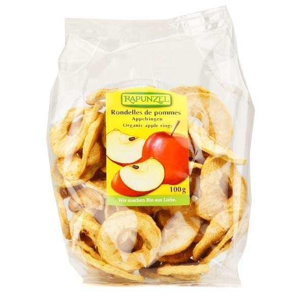 Rapunzel Rondelles de pommes séchées bio - Lot 3 sachets de 100g