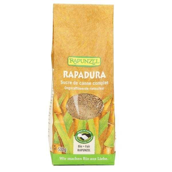 Rapunzel Rapadura, sucre de canne complet bio - Lot 3 sachets de 500g