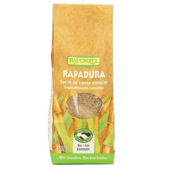 Rapunzel Rapadura, sucre de canne complet bio - Lot 3 sachets de 1kg