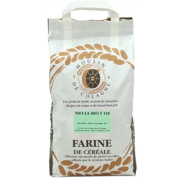 Moulin de Colagne Farine de blé complète à la meule T110 bio - 3 sacs de 5kg