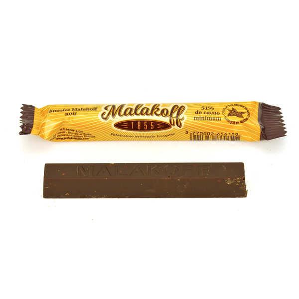 Malakoff & Cie Barre chocolat noir Malakoff 1855 - 6 barres de 20g