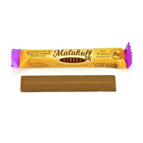Malakoff & Cie Barre chocolat Malakoff 1855 lait et caramel au beurre salé - 6 barres de 20g