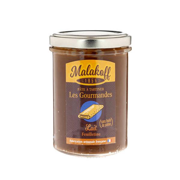 Malakoff Company Pâte à tartiner chocolat au lait feuilletine - Malakoff - Pot 240g