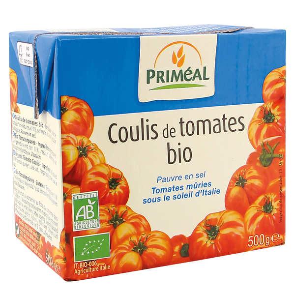 Priméal Coulis de tomates italiennes bio - 3 briques de 500g