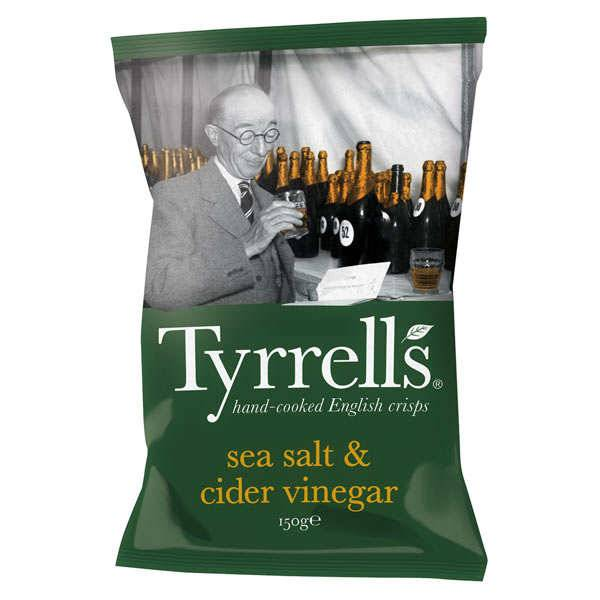 Tyrrells Chips de pommes de terre au vinaigre de cidre et au sel de mer - 3 sachets de 150g