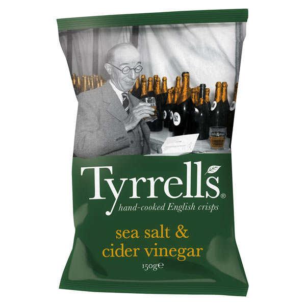 Tyrrells Chips de pommes de terre au vinaigre de cidre et au sel de mer - 6 sachets de 40g