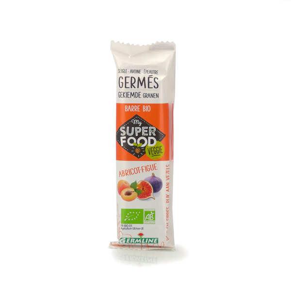 Germline Barre de céréales germées bio abricot et figue - Lot 6 barres de 33g