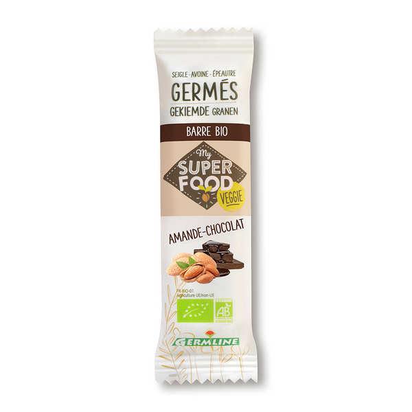 Germline Barre de céréales germées bio amande et chocolat - Barre de 39g