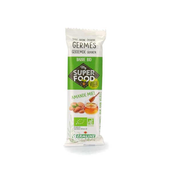 Germline Barre de céréales germées bio amande et miel - Lot 12 barres de 31g
