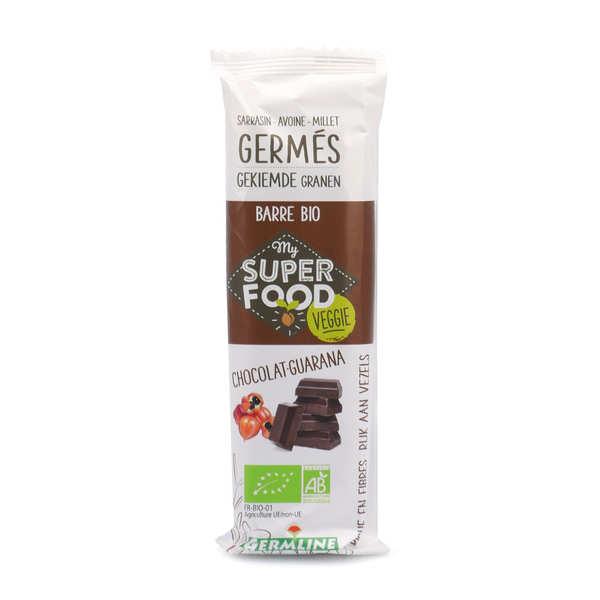 Germline Barre de céréales germées bio guarana et chocolat - Barre 31g