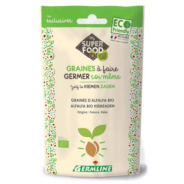 Germline Alfalfa bio - Graines à germer - Lot 3 sachets de 150g