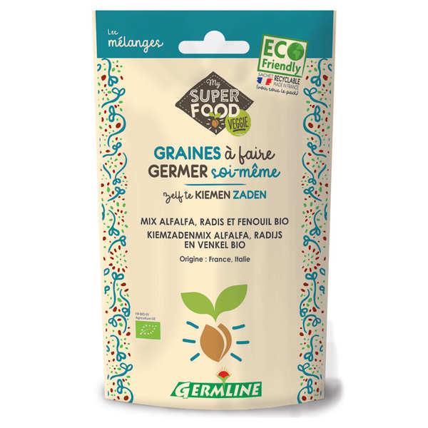 Germline Alfalfa, radis et fenouil bio - Graines à germer - Lot 3 sachets de 150g