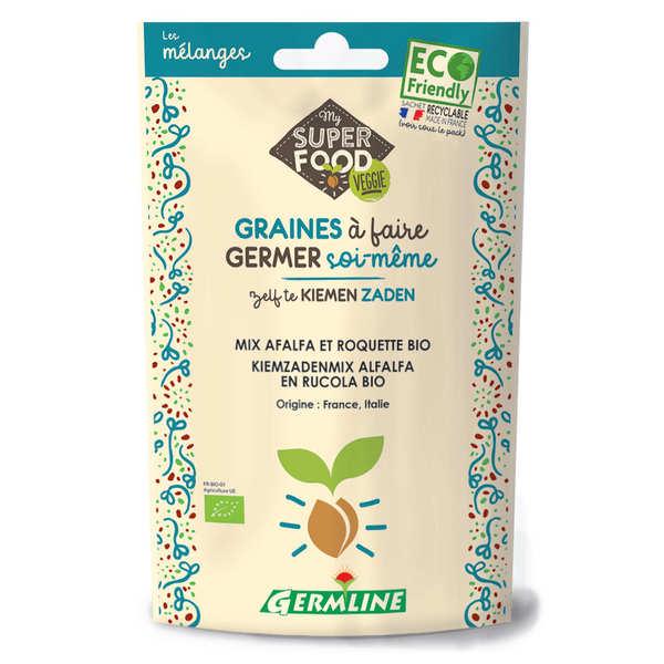 Germline Alfalfa, roquette bio - Graines à germer - Lot 3 sachets de 150g
