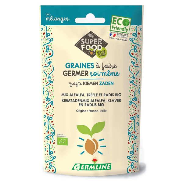 Germline Alfalfa, trèfle et radis bio - Graines à germer - Sachet 150g