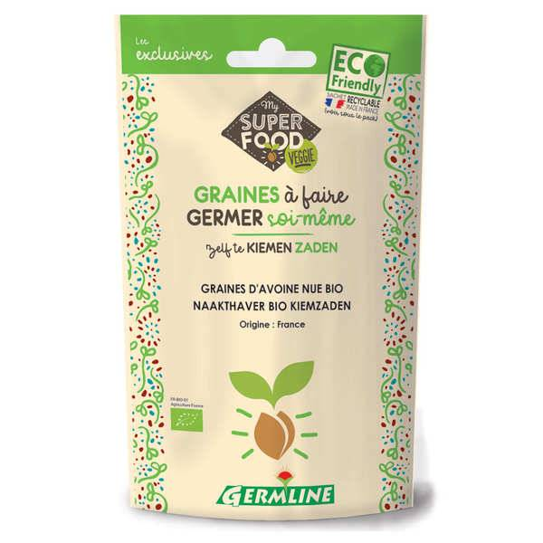 Germline Avoine bio - Graines à germer - Lot 3 sachets de 200g