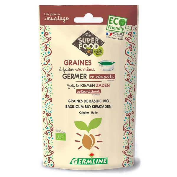 Germline Basilic bio - Graines à germer - Sachet 100g