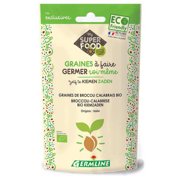 Germline Brocoli calabrais bio - Graines à germer - Lot 6 sachets de 100g
