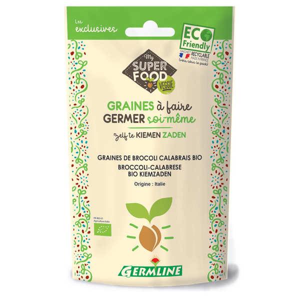 Germline Brocoli calabrais bio - Graines à germer - Lot 3 sachets de 100g