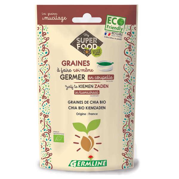 Germline Chia bio - Graines à germer - Lot 6 sachets de 100g